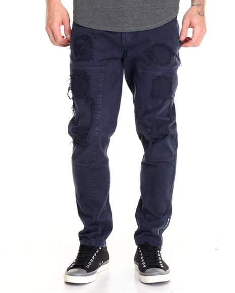 Allston Outfitter - Men Navy Twill Rip And Repaired Pants - $79.99