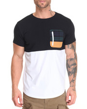 T-Shirts - Color Block Pocket T-Shirt