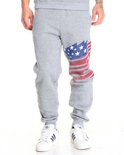 Jeans & Pants - American Blast Printed Fleece Jogger Pants