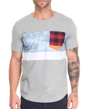 T-Shirts - Acid Wash Denim Block T-Shirt