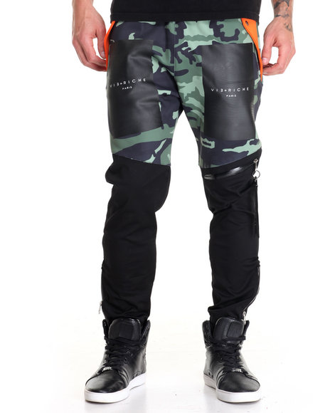 Vie + Riche - Men Black,Camo Box Logo Runner Joggers