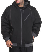Outerwear - ZIP JACKET W/ SHERPA LINED HOOD