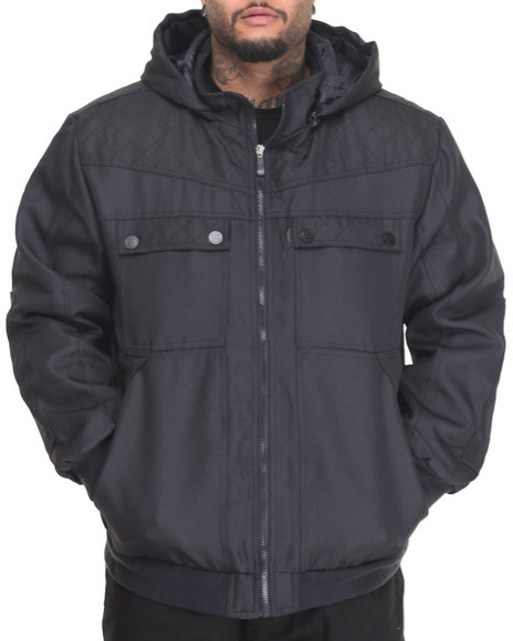 Buyers Picks - Men Navy Cranework Lined Ballistic Nylon Jacket