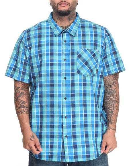 Lrg - Men Blue,Green,Navy Reverb S/S Button-Down (B&T)