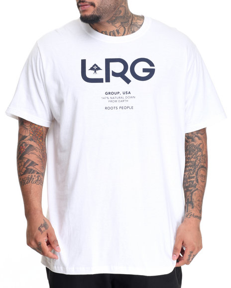 Lrg Men Earth Down T-Shirt (B&T) White 3X-Large