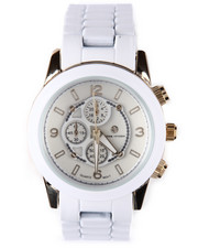 Watches - Round Face Ceramic Band Watch