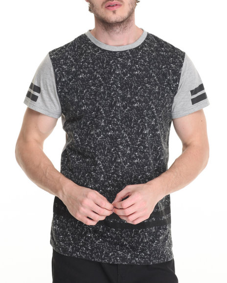Buyers Picks - Men Grey Composition Print Tee