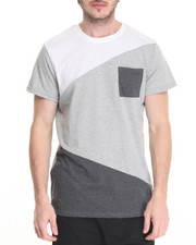 T-Shirts - Geometric Color Block PCKT Tee