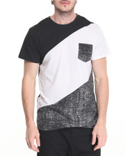 Men - Speckle Color Block PCKT Tee
