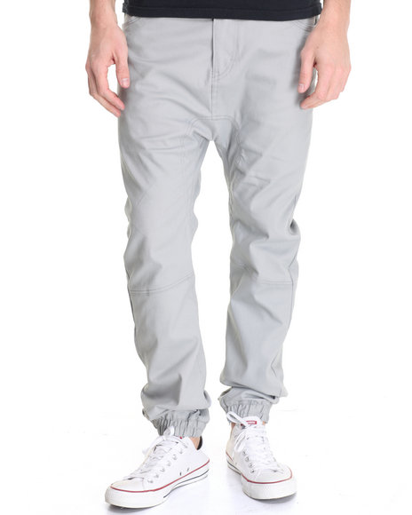 Akademiks - Men Light Grey Noble Woven Jogger Pant