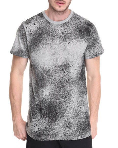 Buyers Picks - Men Grey Airbrush Splatter Tee