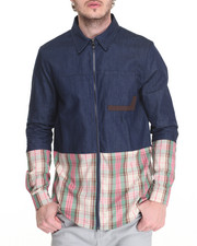 Hudson NYC - Blocked Madras L/S Button - Down