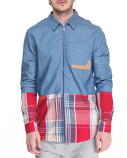 Button-downs - Blocked Madras L/S Button - Down