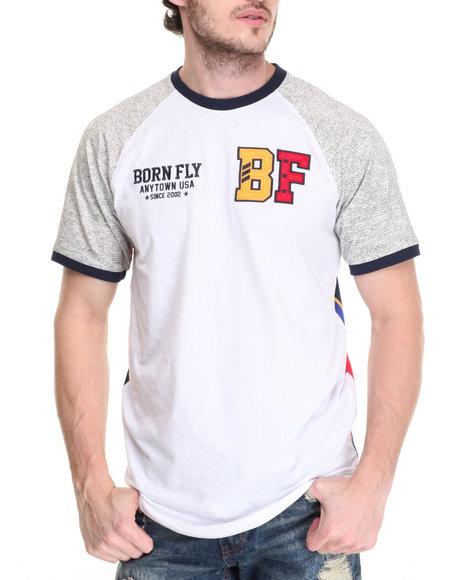 Born Fly - Men White Stafford Tee - $38.00
