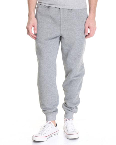 Basic Essentials - Men Grey Fleece Jogger Pants