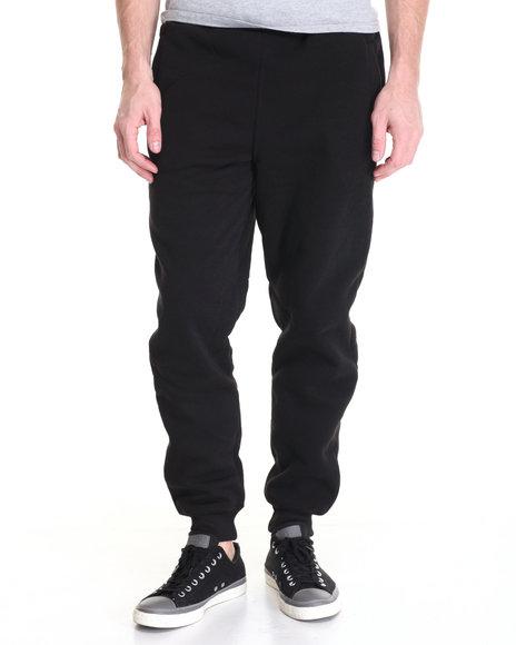 Basic Essentials - Men Black Fleece Jogger Pants