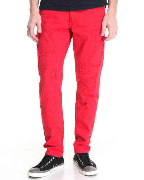 Born Fly - Men Red Knight Jeans