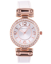 Jewelry - Bling Face Leather Band Watch