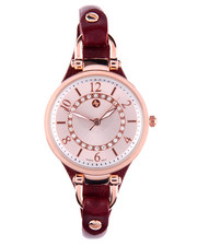 Women - Round Face Thin Leather Strap Watch