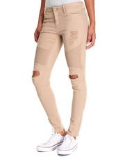 Jeans - Moto Heavy Rips Twill Skinny Pant