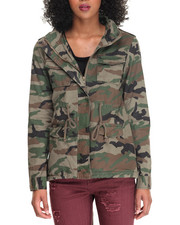 Light Jackets - Twill Fish Tail Camo Army Jacket