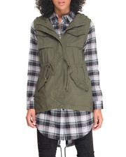 Vests - Sleeveless Hooded Vest