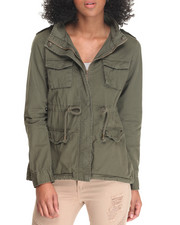 Light Jackets - Twill Fish Tail Army Jacket