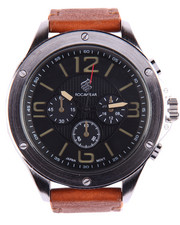 Rocawear - Round Face Leather Band Watch