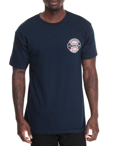 Diamond Supply Co - Men Navy Kings Crest Tee