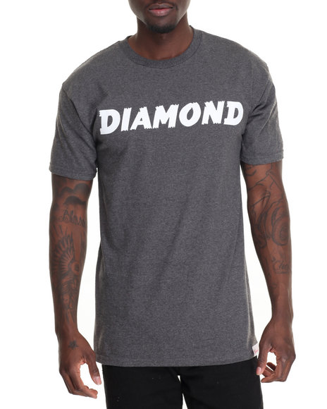 Diamond Supply Co Men Painted Tee Grey XX-Large