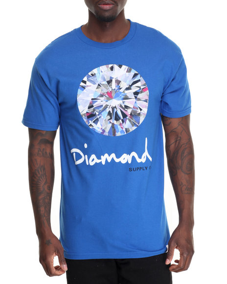 Diamond Supply Co Men Brilliant Tee Blue Medium