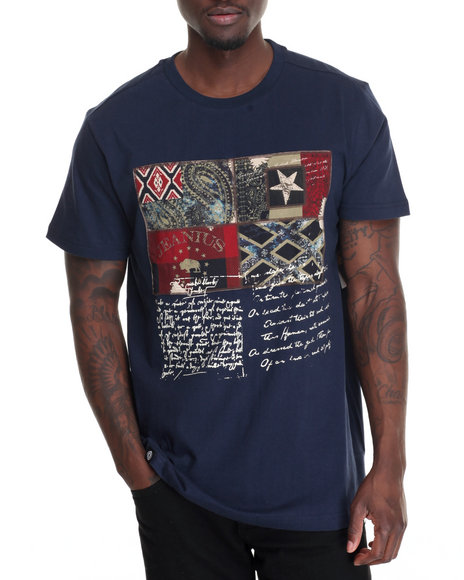 Akademiks - Men Navy King 4 Process T-Shirt