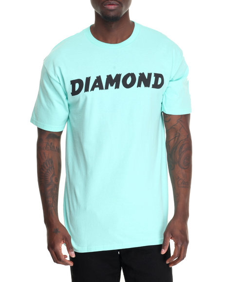 Diamond Supply Co - Men Teal Painted Tee