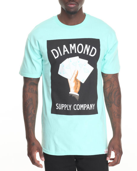 Diamond Supply Co - Men Teal Royal Flush Tee