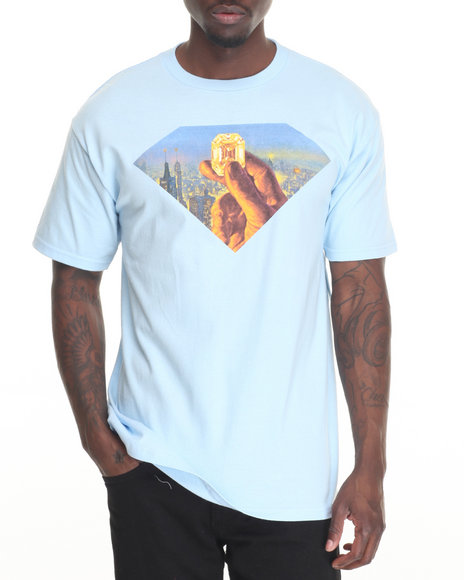 Diamond Supply Co Men Fortune Tee Light Blue Medium