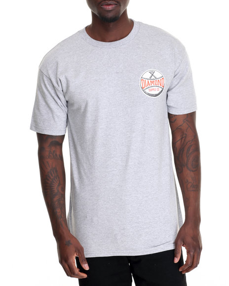 Diamond Supply Co Men Grand Slam Tee Grey Medium