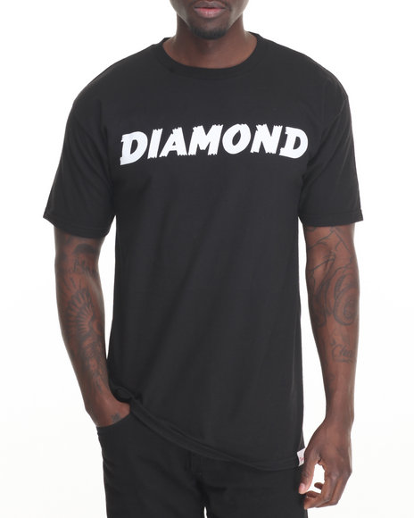 Diamond Supply Co Men Painted Tee Black Small
