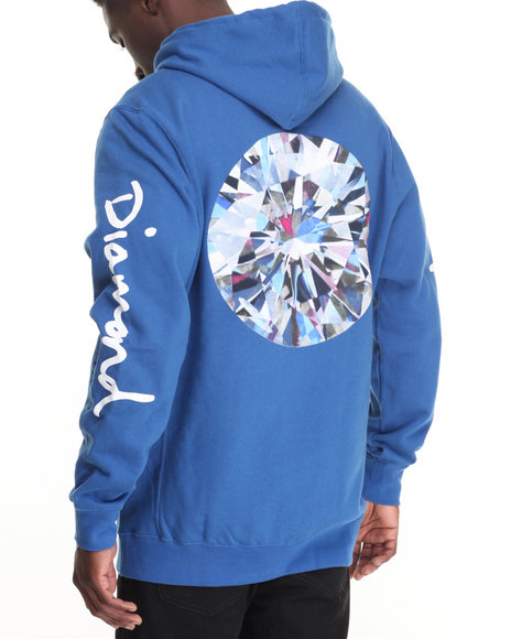 Diamond Supply Co - Men Blue Brilliant Hoodie - $80.00