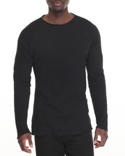 Men - Raw Edge L/S Knit T-Shirt