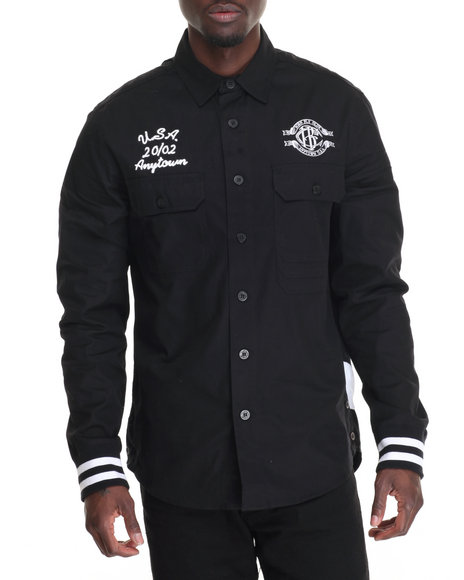 Born Fly - Men Black Brae Burn L/S Button-Down