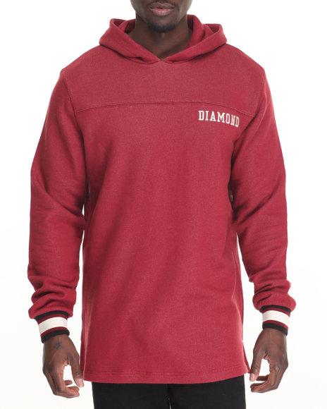Diamond Supply Co - Men Maroon College Pullover Hoodie - $85.00