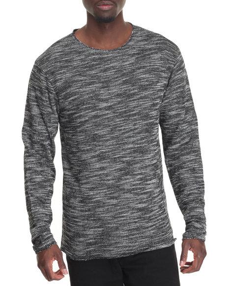 Entity - Men Black Raw Edge Sweater