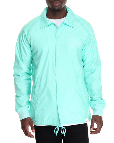 Diamond Supply Co - Men Teal Circumference Coach's Jacket