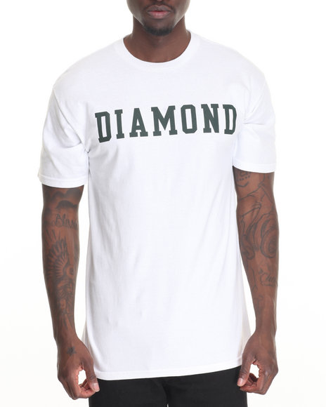 Diamond Supply Co - Men White Diamond Block Tee