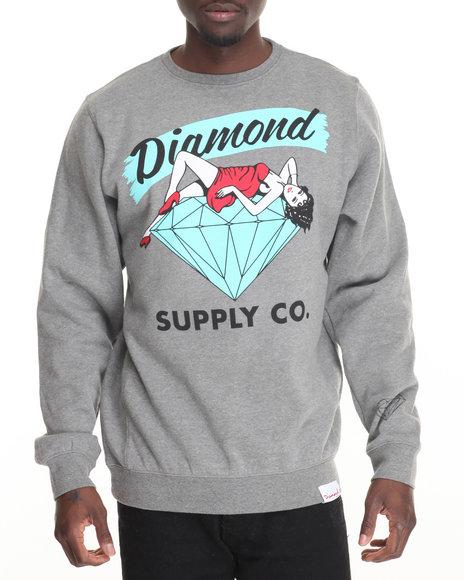 Diamond Supply Co Men Vices Crewneck Sweatshirt Grey Medium