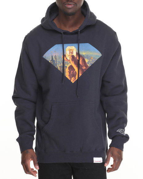 Diamond Supply Co Men Fortune Hoodie Navy Large