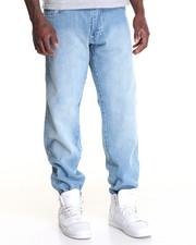 Men - Belted Denim Jean w Contrast Stitching