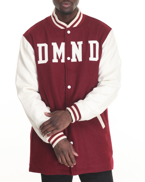 Diamond Supply Co Men Dartmouth Varsity Jacket Maroon Large