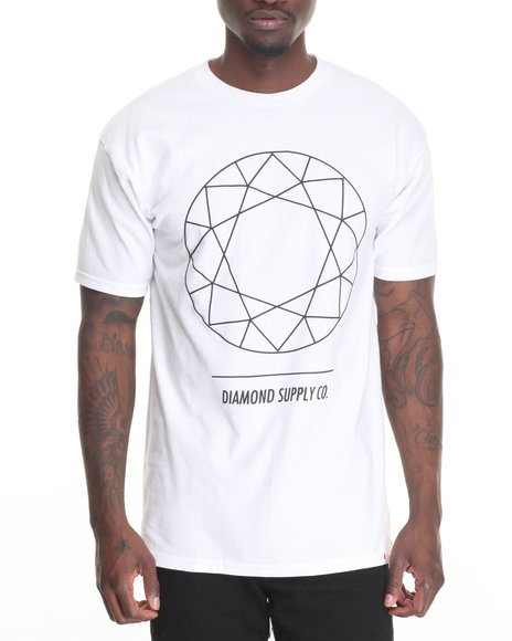 Diamond Supply Co Men Dtc Tee White Large