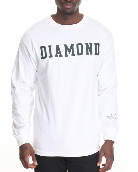 Diamond Supply Co Men Diamond Block L/S Tee White XX-Large